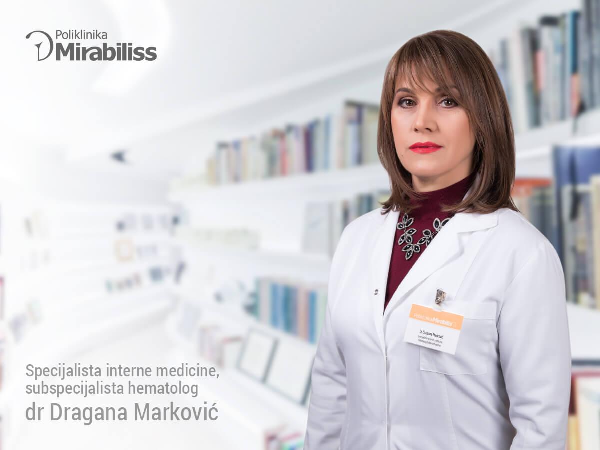 Mirabiliss Poliklinika, Niš - Stručni tim - dr Dragana Marković