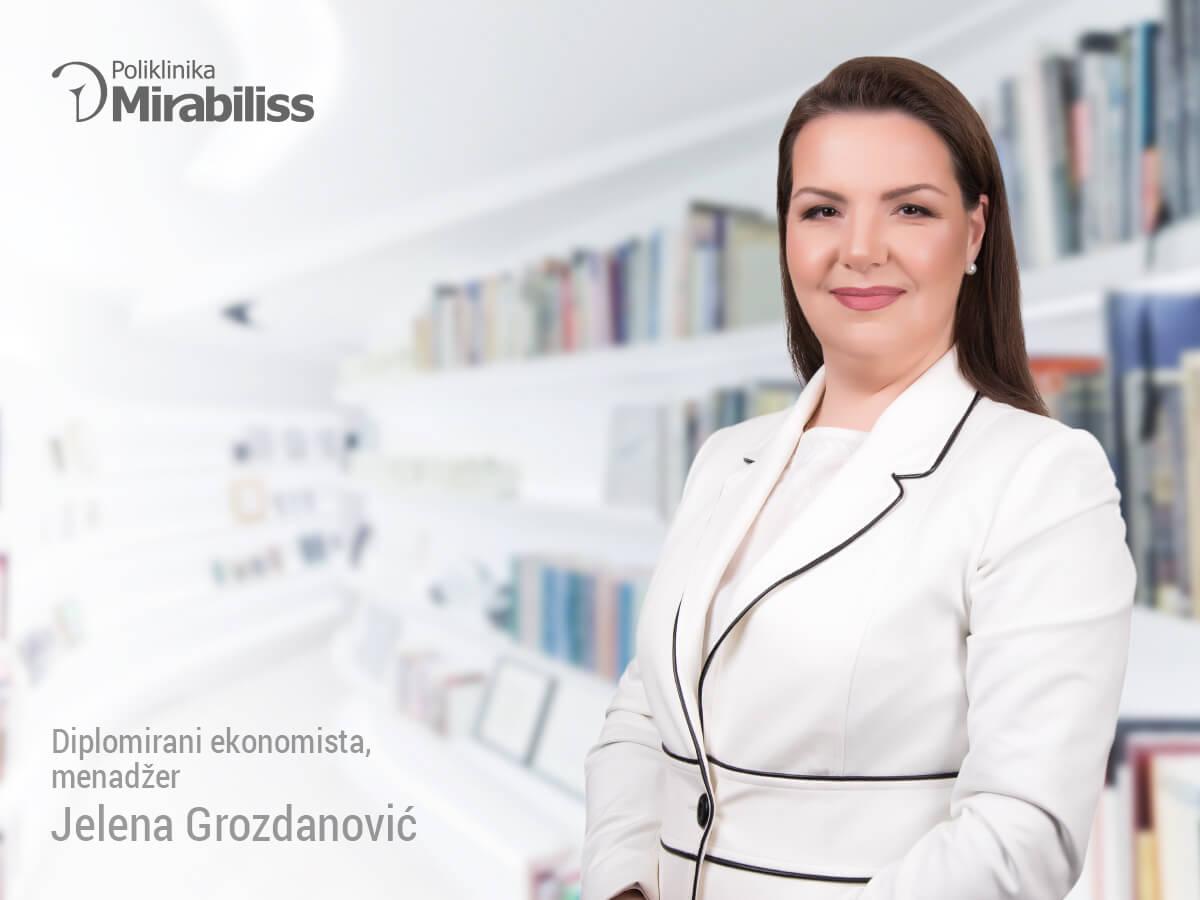 Mirabiliss Poliklinika, Niš - Stručni tim - Jelena Grozdanović