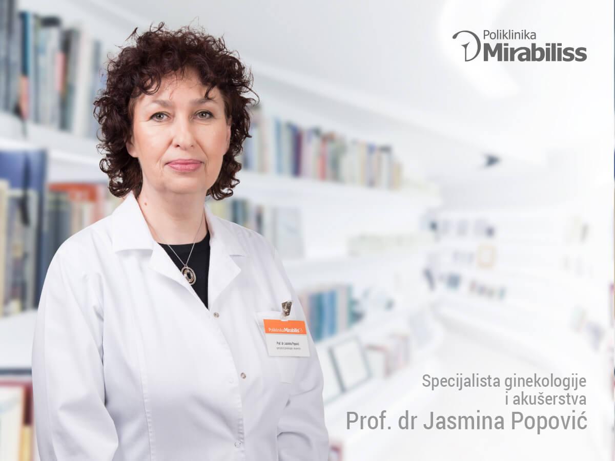 Mirabiliss Poliklinika, Niš - Stručni tim - prof dr Jasmina Popović