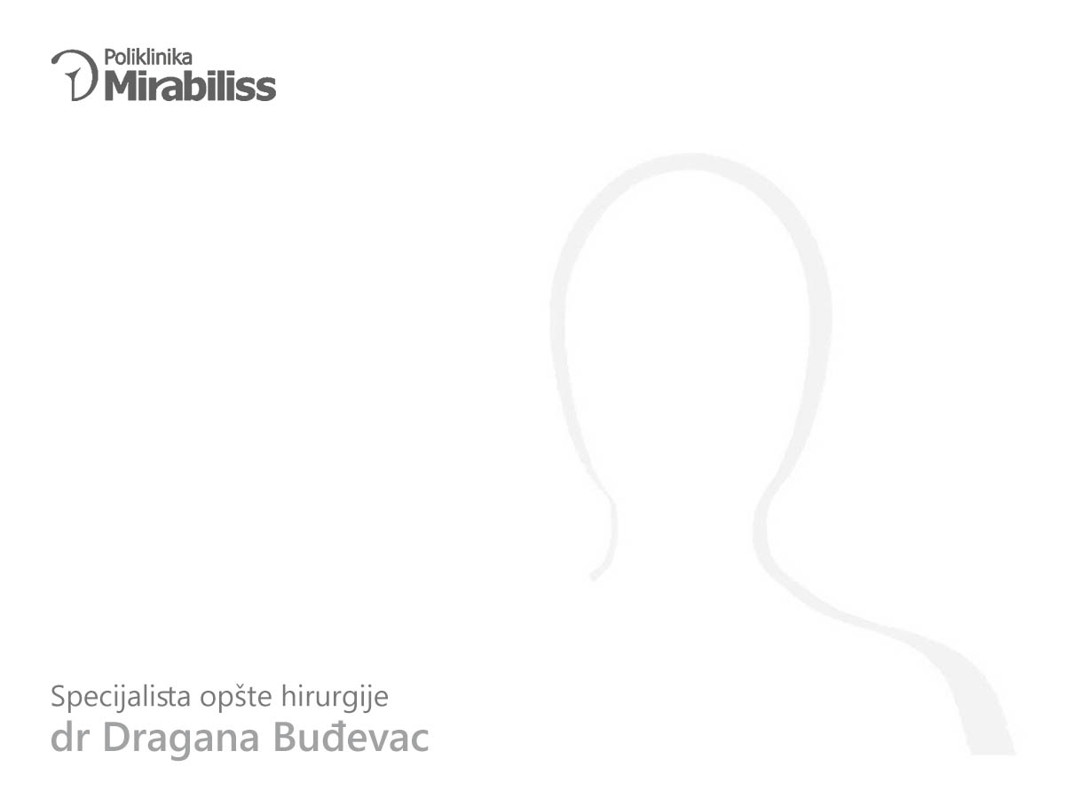 Mirabiliss Poliklinika, Niš - Stručni tim - dr Dragana Buđevac