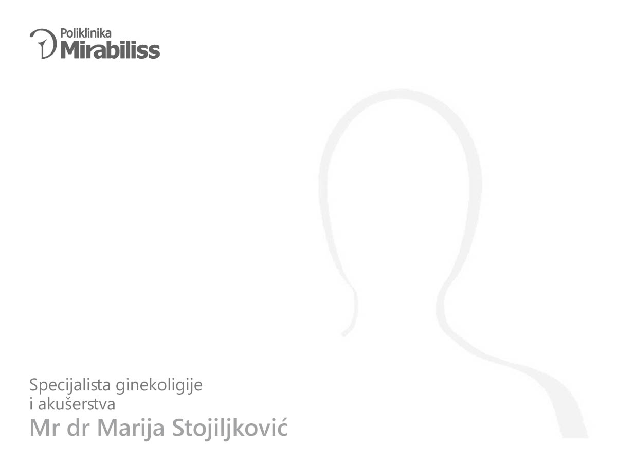 Mirabiliss Poliklinika, Niš - Stručni tim - mr dr Marija Stojiljković