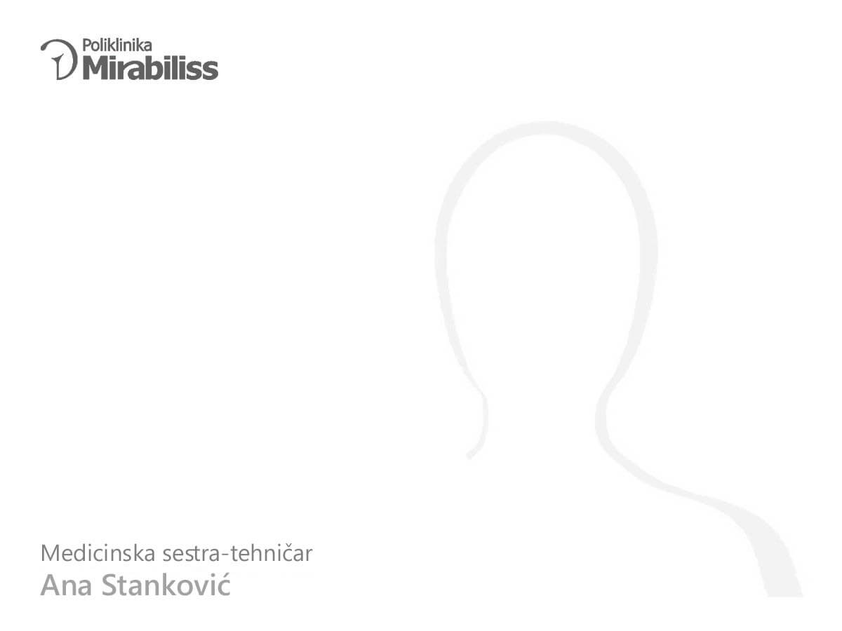 Poliklinika Mirabiliss Niš - Our team - Ana Stanković